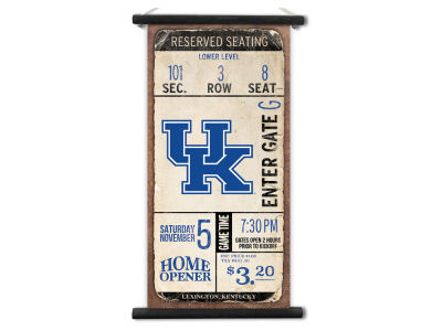 Kentucky Wildcats ScoreArt NCAA Kickoff Printed Canvas Banner