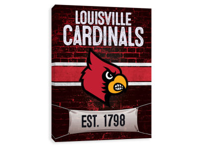 Louisville Cardinals ScoreArt NCAA Brickyard Printed Canvas
