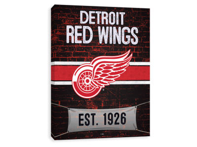 Detroit Red Wings ScoreArt NHL Brickyard Printed Canvas