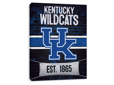 Kentucky Wildcats ScoreArt NCAA Brickyard Printed Canvas