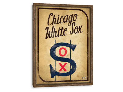 Chicago White Sox ScoreArt MLB Vintage Card Recessed Box Wall Decor
