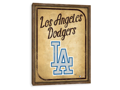 Los Angeles Dodgers ScoreArt MLB Vintage Card Recessed Box Wall Decor