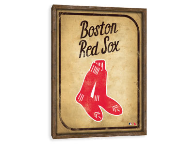 Boston Red Sox ScoreArt MLB Vintage Card Recessed Box Wall Decor