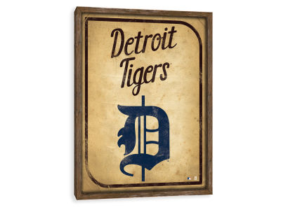 Detroit Tigers ScoreArt MLB Vintage Card Recessed Box Wall Decor
