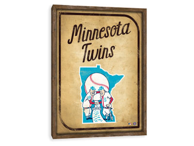 Minnesota Twins ScoreArt MLB Vintage Card Recessed Box Wall Decor