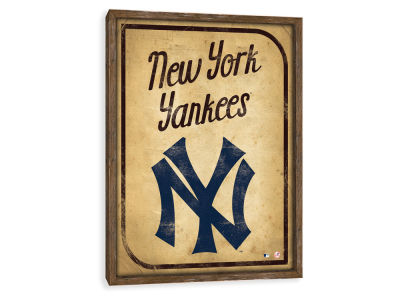 New York Yankees ScoreArt MLB Vintage Card Recessed Box Wall Decor
