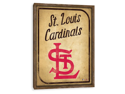 St. Louis Cardinals ScoreArt MLB Vintage Card Recessed Box Wall Decor
