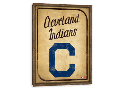 Cleveland Indians ScoreArt MLB Vintage Card Recessed Box Wall Decor