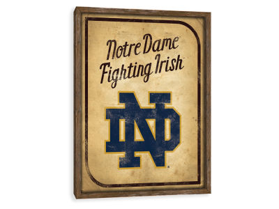 Notre Dame Fighting Irish ScoreArt NCAA Vintage Card Recessed Box Wall Decor