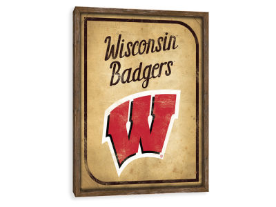 Wisconsin Badgers ScoreArt NCAA Vintage Card Recessed Box Wall Decor