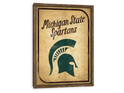 Michigan State Spartans ScoreArt NCAA Vintage Card Recessed Box Wall Decor