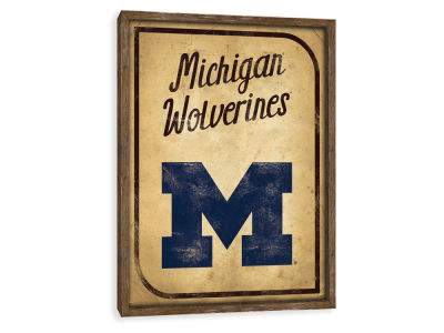 Michigan Wolverines ScoreArt NCAA Vintage Card Recessed Box Wall Decor