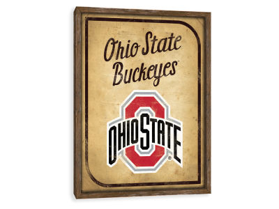 Ohio State Buckeyes ScoreArt NCAA Vintage Card Recessed Box Wall Decor