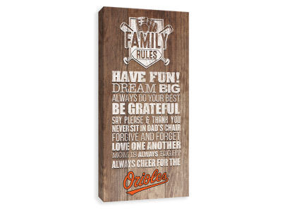 Baltimore Orioles ScoreArt MLB Family Rules Icon Wood Printed Canvas