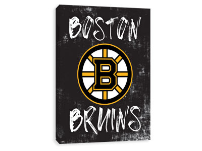 Boston Bruins ScoreArt NHL Grunge Printed Canvas