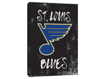 St. Louis Blues ScoreArt NHL Grunge Printed Canvas