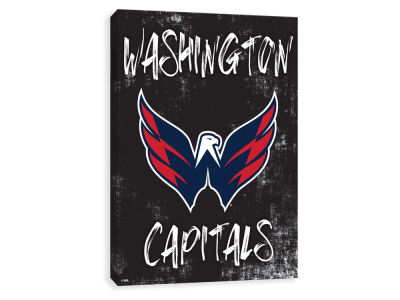Washington Capitals ScoreArt NHL Grunge Printed Canvas