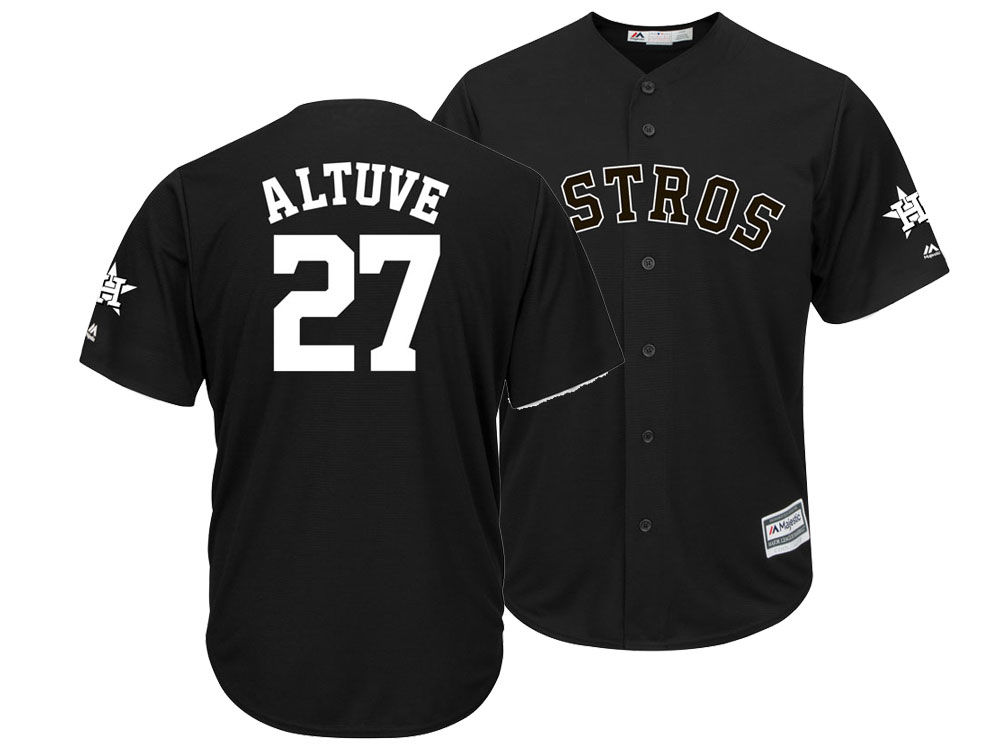 Houston Astros Jose Altuve Majestic MLB Men s Black Tux Replica Cool Base  Jersey  acdb8840a30