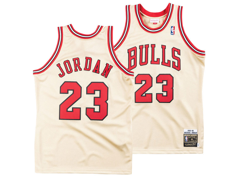 Chicago Bulls Michael Jordan Mitchell   Ness NBA Men s Authentic Gold Jersey.  Top. Chicago ... 6a4e69e4a