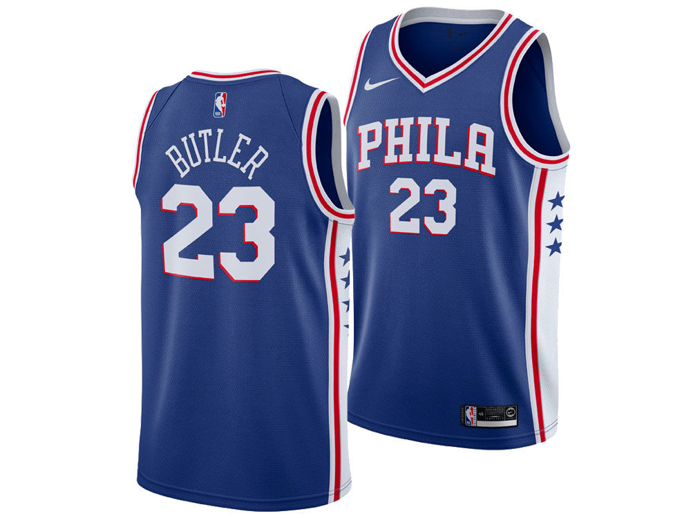 Philadelphia 76ers Jimmy Butler Nike NBA Men s Icon Swingman Jersey ... 88924bc51