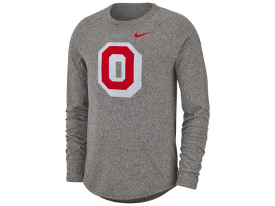 Nike NCAA Men's Marled Long Sleeve Raglan T-Shirt