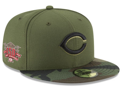 Cincinnati Reds New Era 2019 MLB Authentic Collection Anniversary Patch 59FIFTY Cap