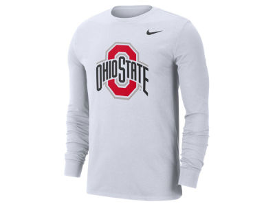 Nike NCAA Men's Dri-Fit Cotton Logo Long Sleeve T-Shirt