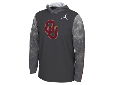 Oklahoma Sooners Nike 2019 NCAA Men's College Football Playoff Team Issue Long Sleeve Hooded T-Shirt