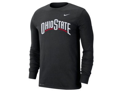 Nike NCAA Men's Dri-Fit Cotton Wordmark Long Sleeve T-Shirt