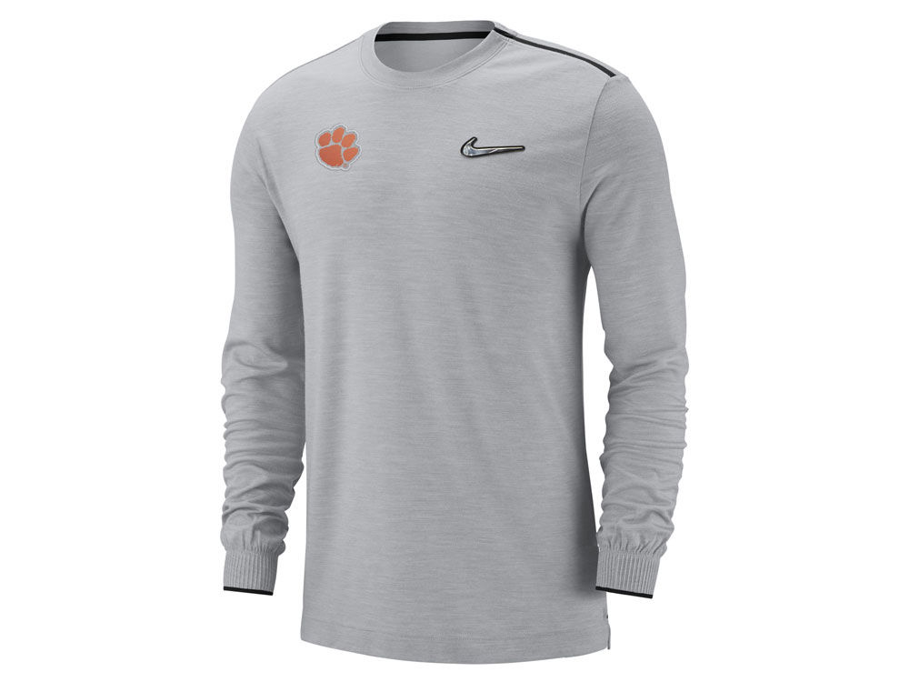 cdc85a2a2 Clemson Tigers Nike 2018 NCAA Men s College Football Playoff Coaches Long  Sleeve T-Shirt