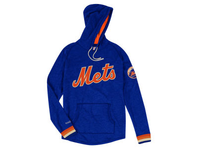 New York Mets Mitchell   Ness MLB Men s Midweight Applique Hoodie 4c0e4ca538e