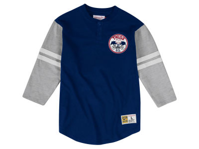 Minnesota Twins Mitchell & Ness MLB Men's Heyday Henley T-Shirt