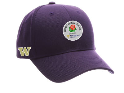fe1ff9ab77e1b Washington Huskies Zephyr NCAA 2018 ZP Rose Bowl Bound Adjustable Cap