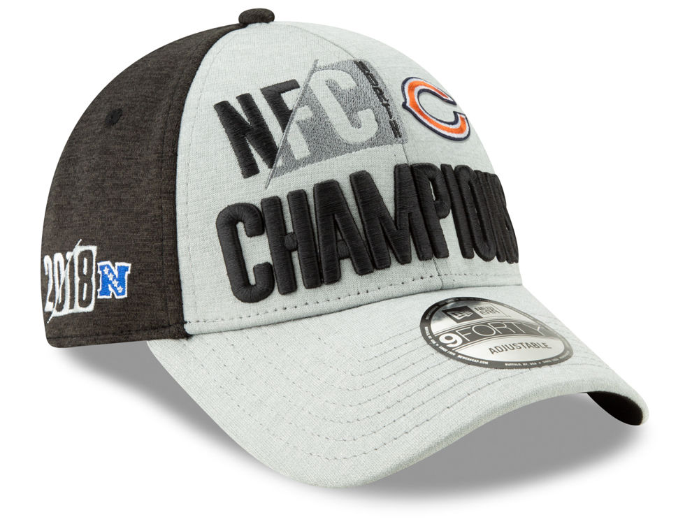 291b82c65ff Chicago Bears New Era 2018 NFL Division Champ 9FORTY Cap