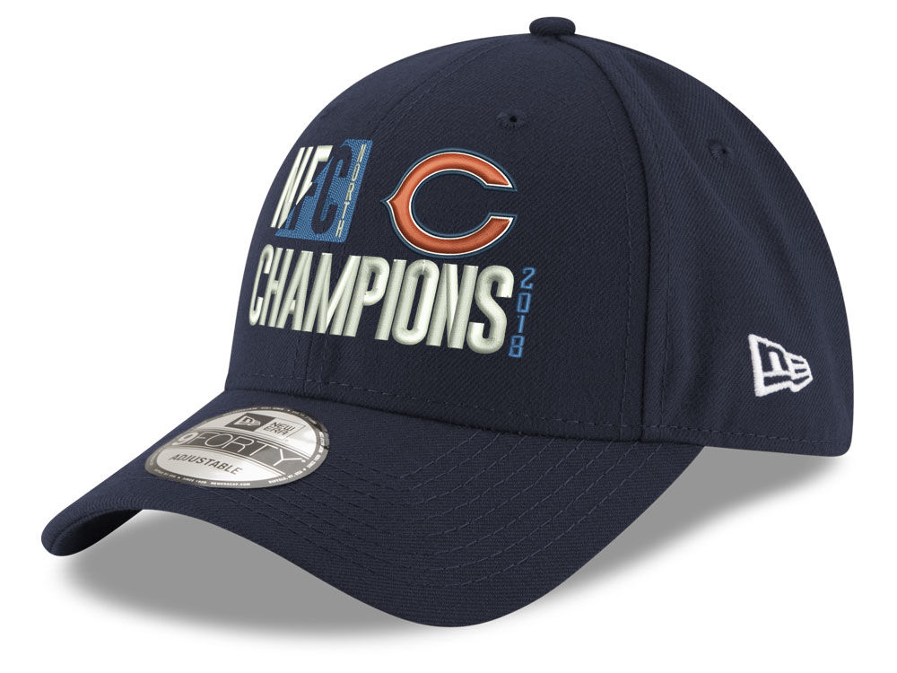 fd3f56436 Chicago Bears New Era 2018 NFL Division Champ Secondary 9FORTY Cap ...