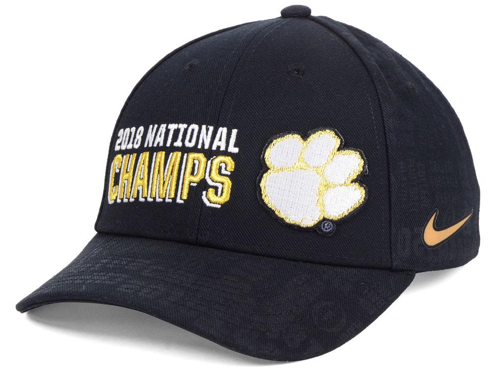 pretty nice 00fd4 52e5b Clemson Tigers Nike 2019 NCAA National Championship Game Locker Room Cap    lids.com