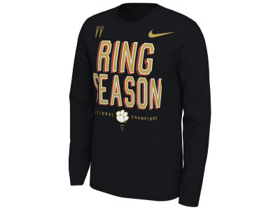 Clemson Tigers Nike 2019 NCAA Men s National Championship Locker Room Long  Sleeve T-Shirt b2aab70891a