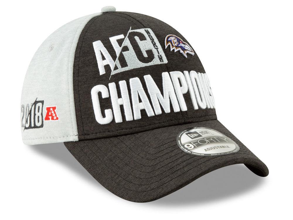 Baltimore Ravens New Era 2018 NFL Division Champ 9FORTY Cap  d06dee009