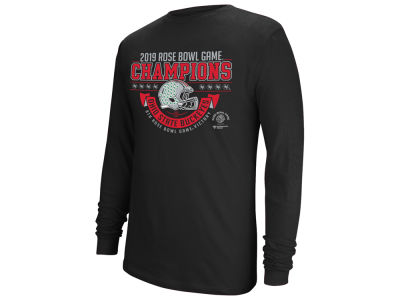 4ab277e5789 Ohio State Buckeyes Top of the World 2019 NCAA Men s Rose Bowl Champ Long  Sleeve T