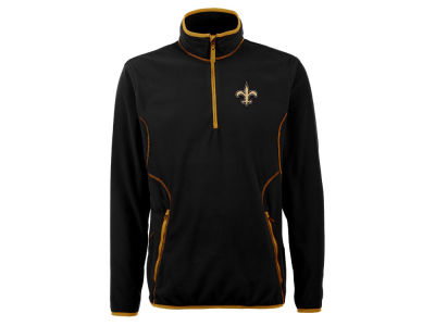 New Orleans Saints Antigua NFL Men's Ice Pullover 1/4 Zip