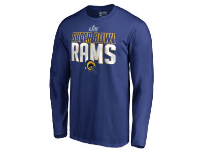 Los Angeles Rams Majestic NFL Men s Super Bowl LIII Bound Safety Blitz Long  Sleeve T- 97d06217a