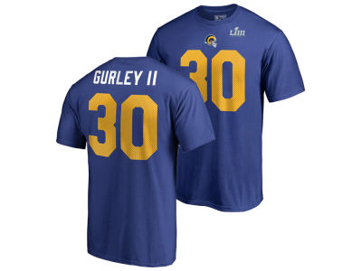 Los Angeles Rams Todd Gurley Majestic NFL Youth Super Bowl LIII Bound Name and Number T-Shirt