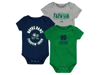 Notre Dame Fighting Irish Outerstuff NCAA Newborn Everyday Fan 3 Piece Creeper Set