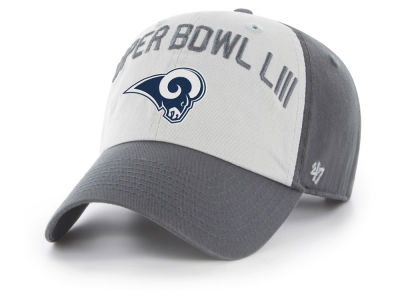 Los Angeles Rams '47 NFL Super Bowl LIII Team ID Clarke CLEAN UP Cap