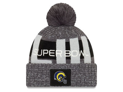 Los Angeles Rams New Era NFL Super Bowl LIII Participant Pom Knit