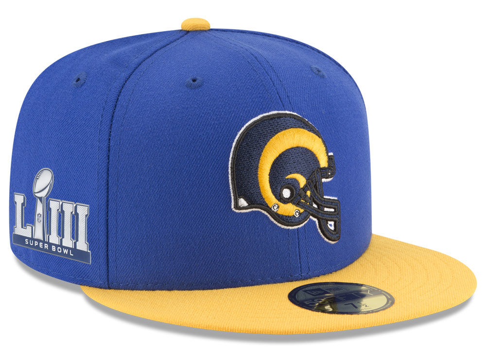 ... discount code for los angeles rams new era nfl super bowl liii team  basic patch 59fifty 2674315e052d