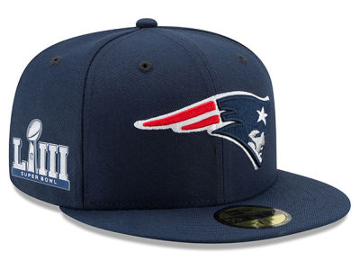 New England Patriots New Era NFL Super Bowl LIII Team Basic Patch 59FIFTY Cap
