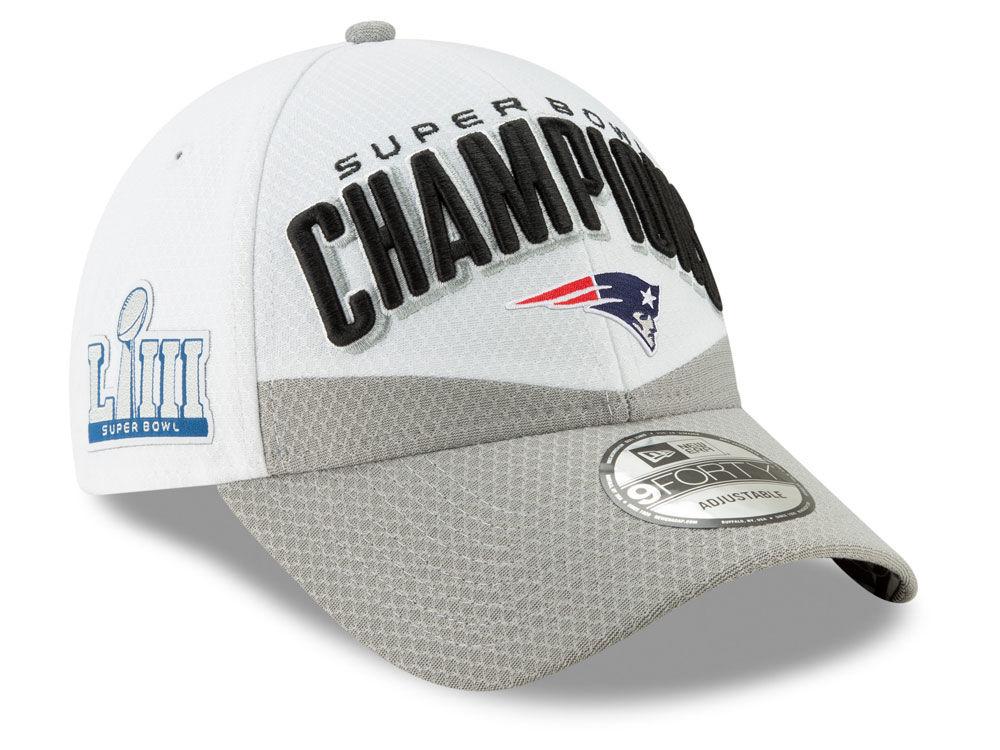 5c0eab946fbf5 New England Patriots New Era NFL Youth Super Bowl LIII Champion Locker Room  9FORTY Cap