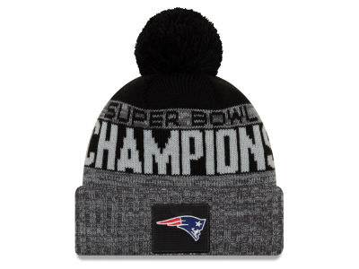 New England Patriots New Era NFL Super Bowl LIII Championship Parade Pom Knit