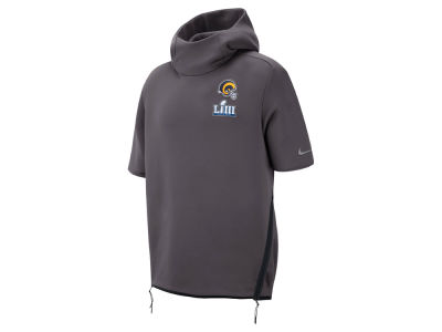 Los Angeles Rams Nike NFL Men's Super Bowl LIII Bound Media Day Therma Short Sleeve Hoodie